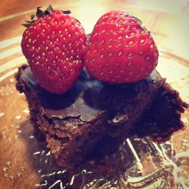berry brownie