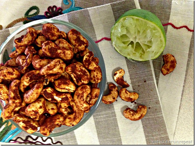 chili lime spiced cashews | eatwriterunrepeat.com
