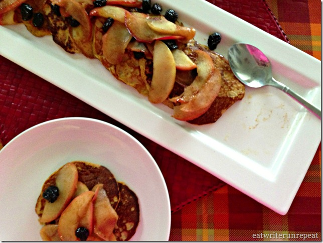 grain free pumpkin pancakes with apple raisin compote 2