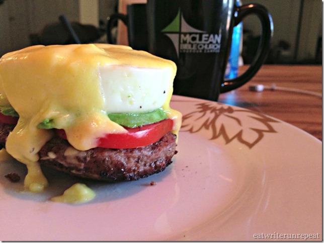 hamburger eggs benedict