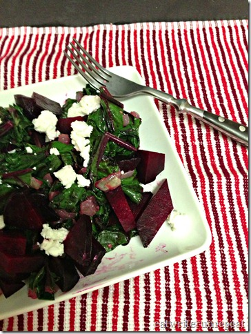 roasted beets and beet greens