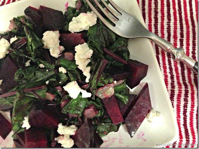 roasted beets and sauteed beet greens 3