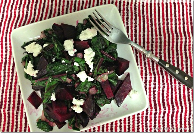 roasted beets and sauteed beet greens 4