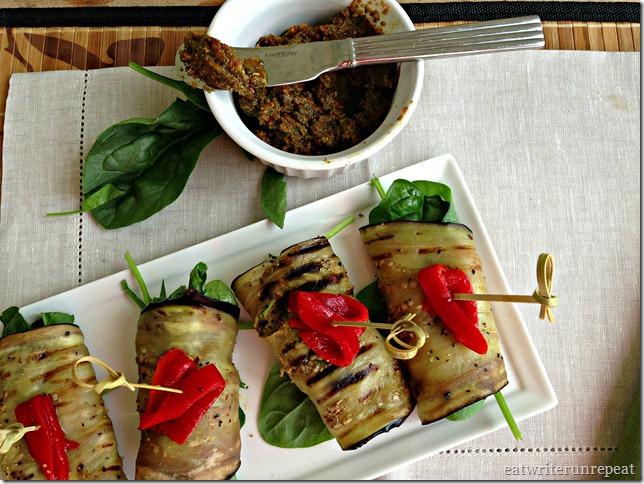 tomato basil pesto eggplant roll-ups 2