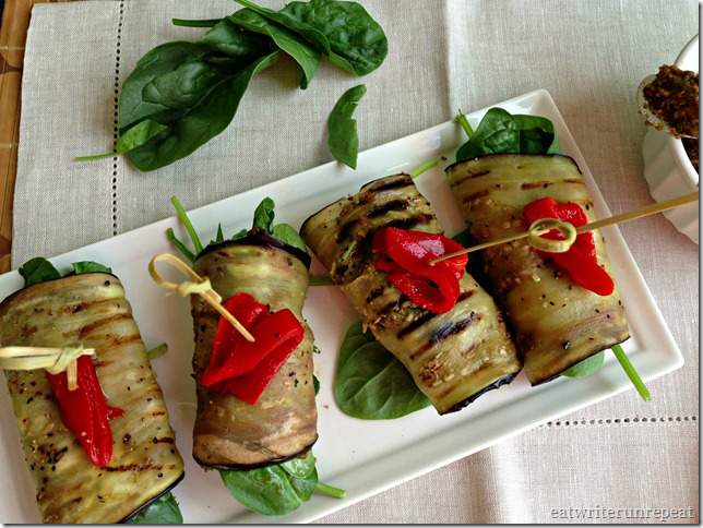 tomato basil pesto eggplant roll-ups 3