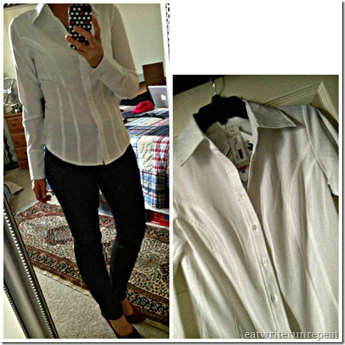 white shirt collage