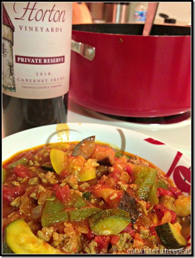 easy turkey ratatouille | eatwriterunrepeat.com