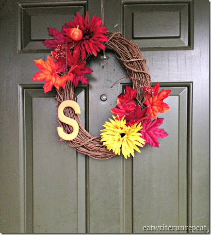 monogrammed fall wreath final