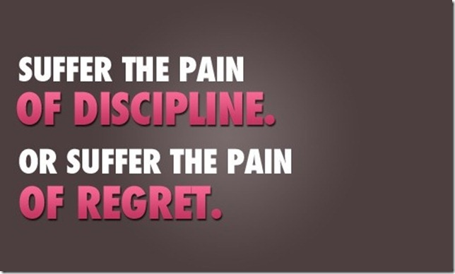 pain of discipline