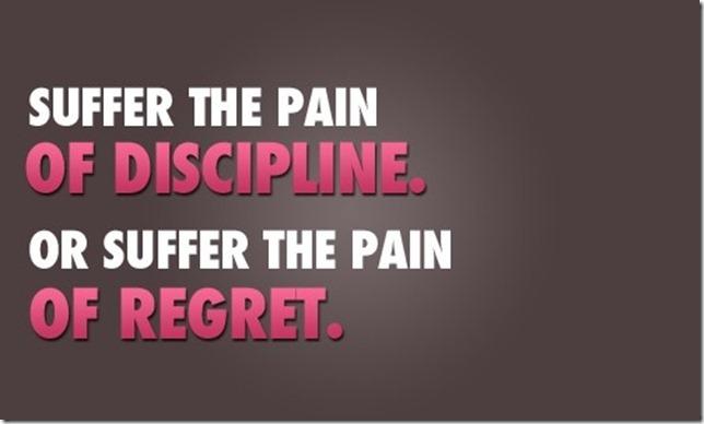 pain of discipline