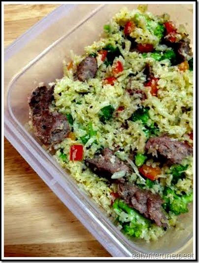 eatwriterunrepeat.com | Whole30 beef and rice