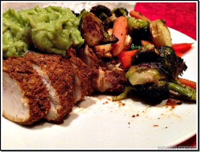 eatwriterunrepeat.com | whole30 chicken and veggies