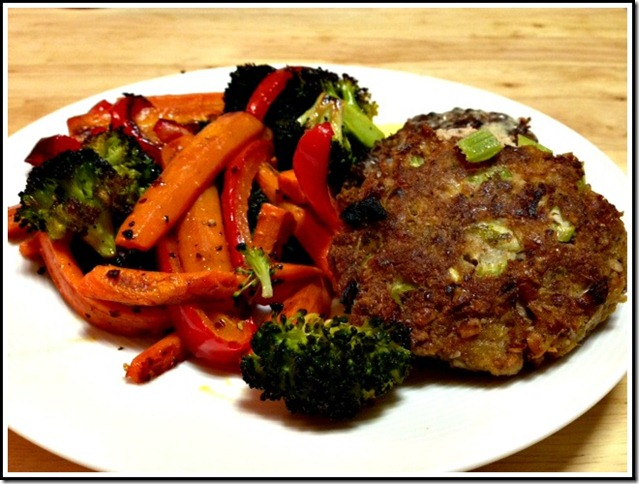whole30 crab cake dinner