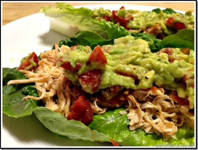 eatwriterunrepeat.com | whole30 mexican chicken tacos