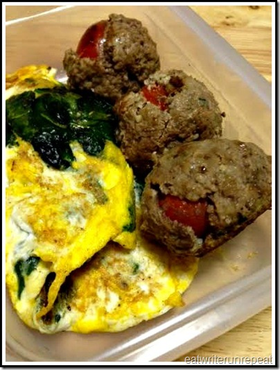 eatwriterunrepeat.com | whole30 omelet and meatballs