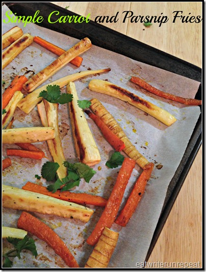roasted carrot and parsnip fries | eatwriterunrepeat.com