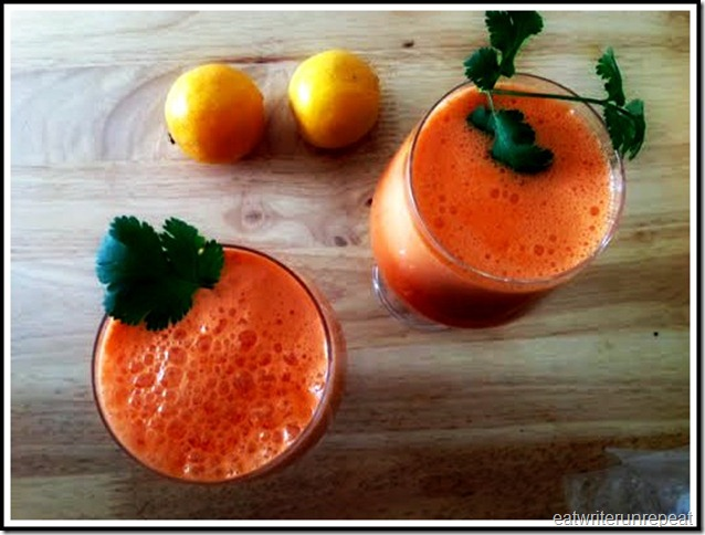 eatwriterunrepeat.com || carrot apple lemon ginger juice 3