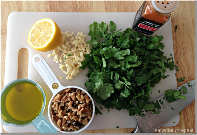 cilantro and walnut pesto | eatwriterunrepeat.com