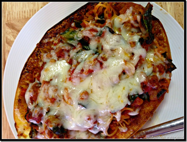 spaghetti squash boats | eatwriterunrepeat.com