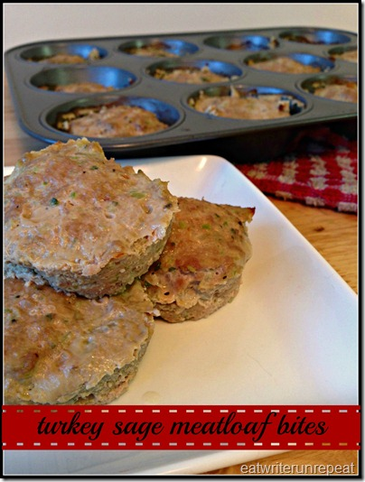 turkey sage meatloaf bites | eatwriterunrepeat.com