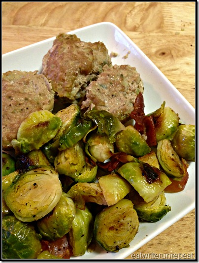 turkey sage meatloaf bites with brussels sprouts | eatwriterunrepeat.com