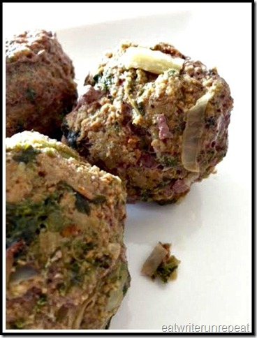 beef vegetable meatballs | eatwriterunrepeat.com