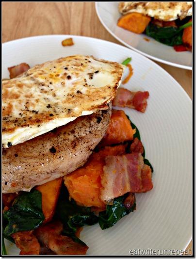pork chops with sweet potato hash | eatwriterunrepeat.com