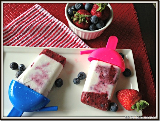 double berry coconut popsicles | eatwriterunrepeat.com