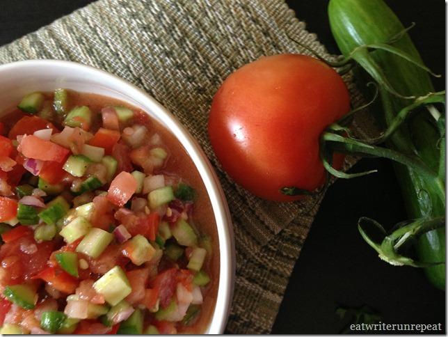 summer gazpacho | eatwriterunrepeat.com