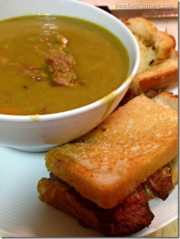 bearfamilystrong.com | grilled roast beef and cheese with soup