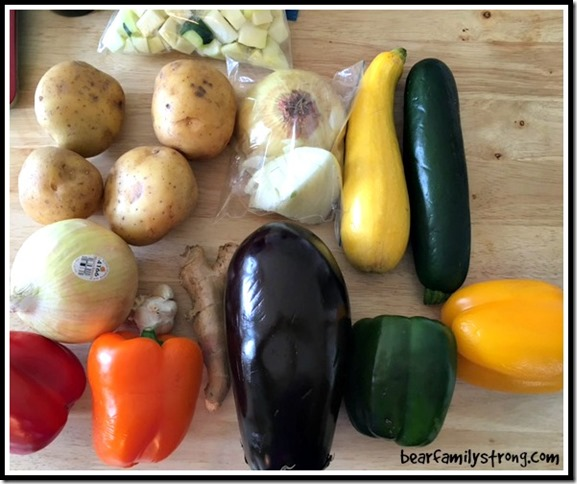 bearfamilystrong.com | food prep vegetables