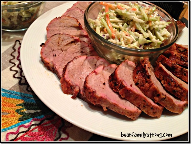 bearfamilystrong.com | grilled pork tenderloin with rainbow slaw3