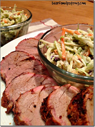 bearfamilystrong.com | grilled pork tenderloin with rainbow slaw4