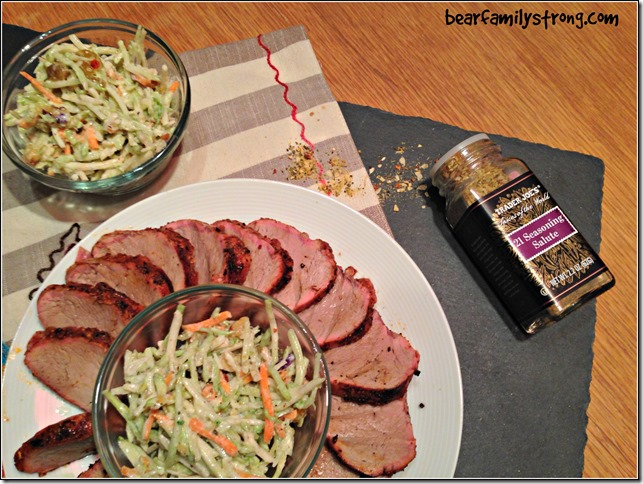 bearfamilystrong.com | grilled pork tenderloin with rainbow slaw