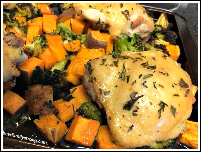 one pan chicken and vegetables 4